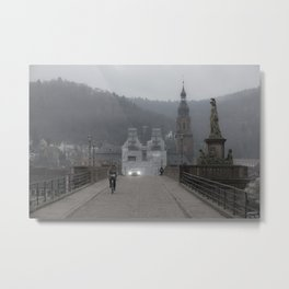 Heidelberg Cyclist Metal Print