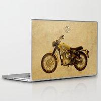 ducati Laptop & iPad Skins featuring Ducati Scrambler 350 1970 by Larsson Stevensem