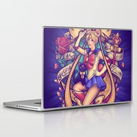 sailormoon Laptop & iPad Skins featuring In the Name of the Moon by Megan Lara
