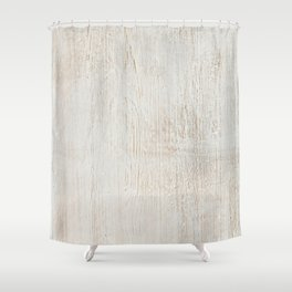 White vintage wood Shower Curtain
