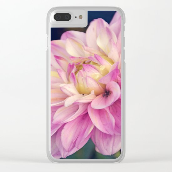 Pink sweet dahlia Clear iPhone Case