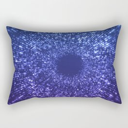 Sci Fi Abstract Outer Space Universe  Mystic Blue Rectangular Pillow