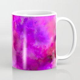 Abstract Pour Art - Pink and Purple Coffee Mug