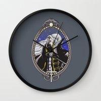 castlevania Wall Clocks featuring Dracula's Dhampir by CaptainSunshine