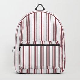 Dark Red Pear Mattress Ticking Wide Striped Pattern - Fall Fashion 2018 Backpack