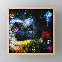 guinea pig colorful side portrait wsstd Framed Mini Art Print