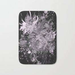 Blooms, monochrome Bath Mat