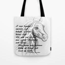 White Horse of a King Tote Bag