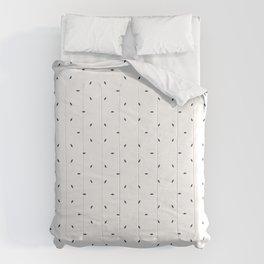 Navy blue subtle pattern Comforters