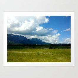 Alberta Mountains Art Print