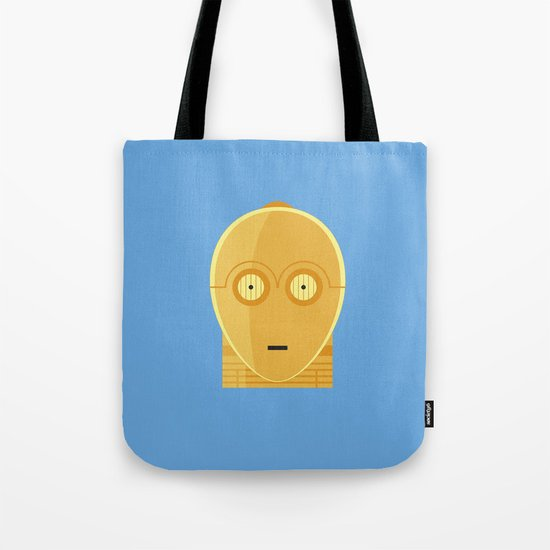 Star Wars Minimalism - C3PO Tote Bag