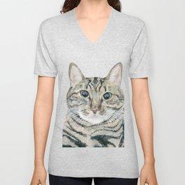 The portrait of the cat Unisex V-Neck