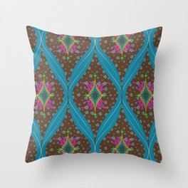 teardrop pattern Throw Pillow