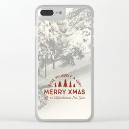 Merry Xmas Clear iPhone Case