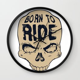 Skull Born to ride Wall Clock