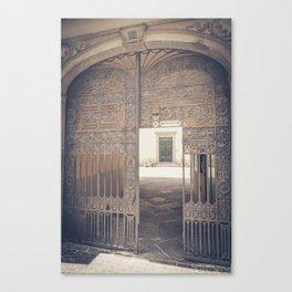 Door in Door Lucca italy tuscany Canvas Print