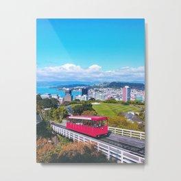 The Top of Windy Wellington Metal Print
