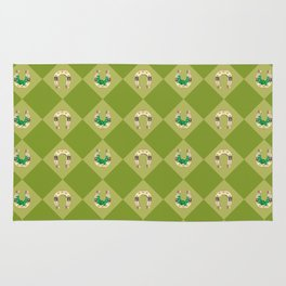 Gold horseshoe with clover Rug