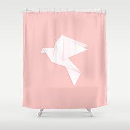 Origami dove Shower Curtain