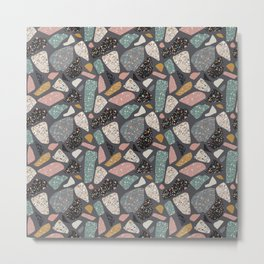 Abstract terrazzo pattern Metal Print