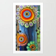 Hippie Flowers  Art Print