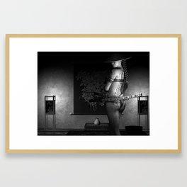 Never Vulnerable B&W Framed Art Print