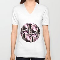 grafitti V-neck T-shirts featuring Sky High by Maria Parsons