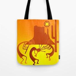Sunny Day Kokopelli Tote Bag