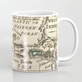 Vintage Map of The Caribbean (1758) Coffee Mug