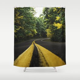 new england road Shower Curtain