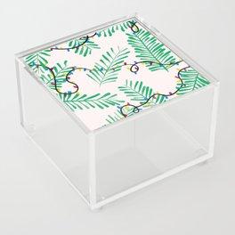 Leafy Holiday Lights Acrylic Box