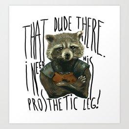 My Rocket Raccoon Art Print