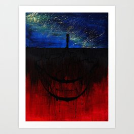 The smile of the other side Art Print