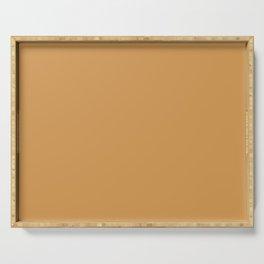 SAFFRON STRANDS Warm Pastel solid color Serving Tray