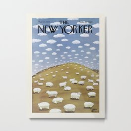 "Cover of "" The new Yorker"" magazine.  May 19 1975. Metal Print"