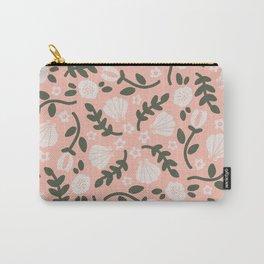 Peach Sage Floral Part 3 Carry-All Pouch