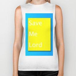 Save Me Lord Bible Minimal Slogan Biker Tank