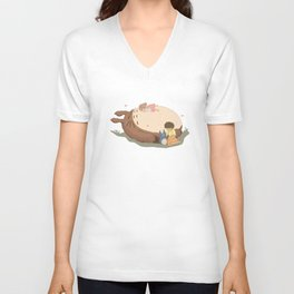 Sleeping Neighbour toto ro Unisex V-Neck