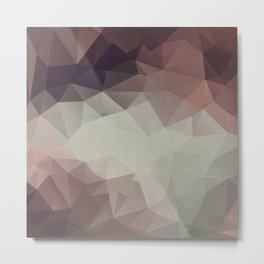 Gray brown abstract polygonal pattern triangles . Metal Print