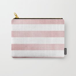 Simply Stripes in Rose Gold Sunset Carry-All Pouch