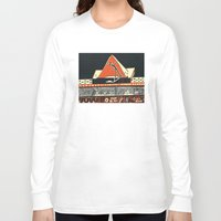pyramid Long Sleeve T-shirts featuring pyramid by pcart