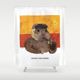Vincent van Gopher Shower Curtain