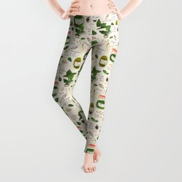 Pesto. Illustrated Recipe. Leggings