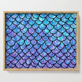 Purples & Blues Mermaid scales Serving Tray