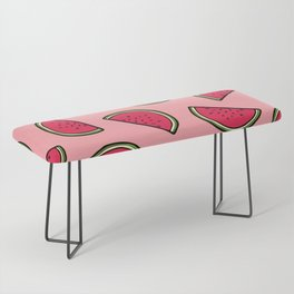 Watermelon Pattern in Pink Bench