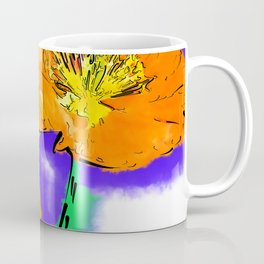 The Orange Poppy Pair Coffee Mug