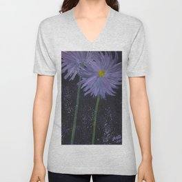 Simple Flowers Unisex V-Neck
