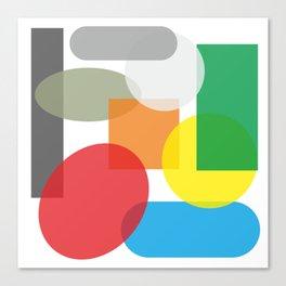 Tech geometric colorful Background #society6 #decor #buyart #artprint Canvas Print