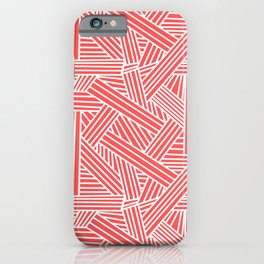 Sketchy Abstract (White & Salmon Pattern) iPhone Case