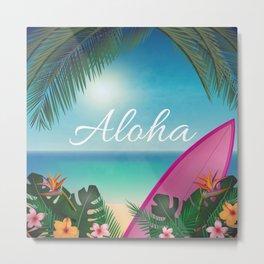 Aloha Surfers Paradise Metal Print